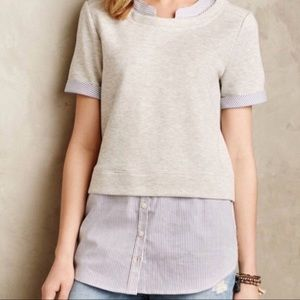 Anthropologie Layered Sweatshirt